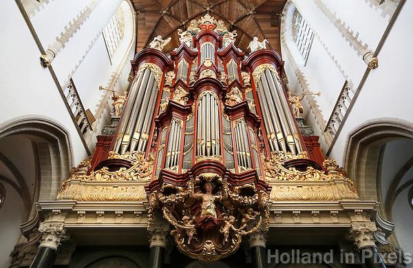 Nederland Haarlem  2016. Kerkorgel in de Sint Bavokerk op de Grote Markt.  Foto Berlinda van Dam / Hollandse Hoogte