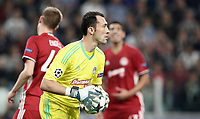 Football Soccer: UEFA Champions League Juventus vs Olympiacos Allianz Stadium. Turin, Italy, September 27, 2017. <br /> Olympiacos' goalkeeper Silvio Proto in action during the Uefa Champions League football soccer match between Juventus and Olympiacos at Allianz Stadium in Turin, September 27, 2017.<br /> UPDATE IMAGES PRESS/Isabella Bonotto