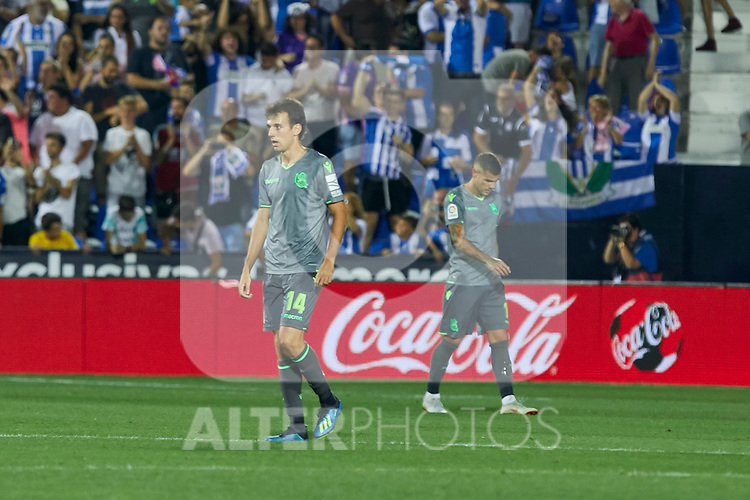 Real Sociedad's Ruen Pardo during La Liga match. August 24, 2018. (ALTERPHOTOS/A. Perez Meca)