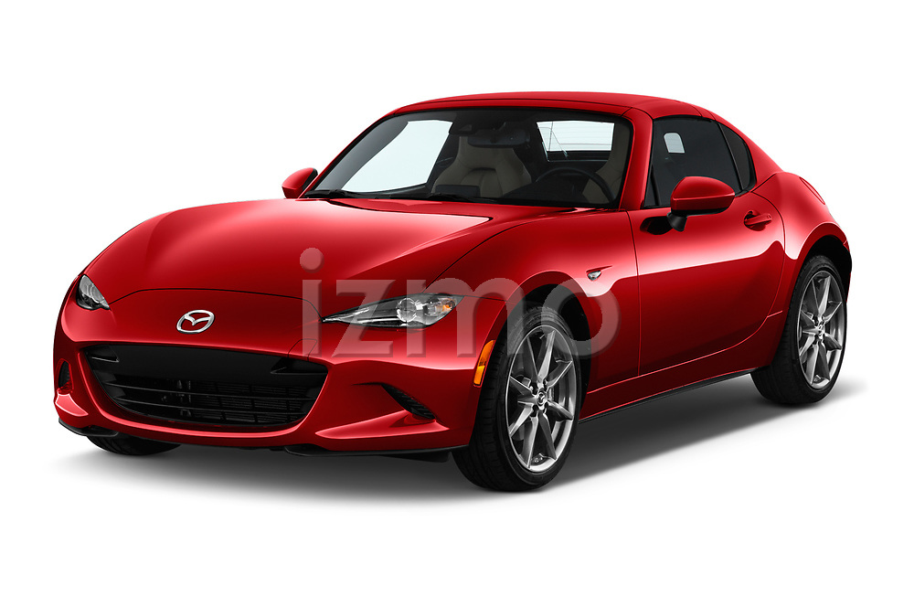 2019 Mazda MX-5 Selection 2 Door Targa Angular Front stock photos of front three quarter view