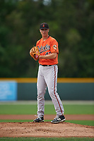 Baltimore Orioles pitcher Matthew Grimes (47) during a minor league Spring Training intrasquad game on April 2, 2016 at Buck O'Neil Complex in Sarasota, Florida.  (Mike Janes/Four Seam Images)