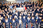 "CHEQUE: What a surprise Ardfert NS got on Wednesday morning when Eanna Ní Lamhna of ""Mooney Go's Whild"" RTE Radio 1 and presented a cheque of €5,000 to the School for their acheivement over the past year and they were first in Munster,accepting the cheque on behalf of the Ardfert NS was Betty Stack (principal) and Marie O'Connell."