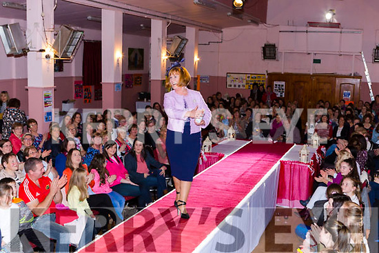 Local models on the catwalk at the Friends of Chernobyl fashion show in Rathmore on Thursday night