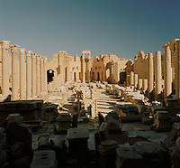 Severan Basilica, part of the ruined Roman city of Leptis Magna, Libya