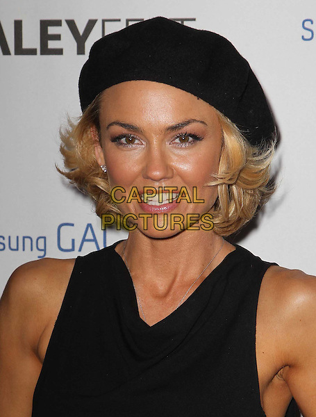 Kelly Carlson.PaleyFest Icon Award 2013 Held At The Paley Center for Media, Beverly Hills, California, USA..February 27th, 2013.headshot portrait black sleeveless beret hat .CAP/ADM/KB.©Kevan Brooks/AdMedia/Capital Pictures.
