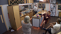 Ann Widdecombe, Shane Lynch and John Barnes.<br /> Celebrity Big Brother 2018 - Day 7<br /> *Editorial Use Only*<br /> CAP/KFS<br /> Image supplied by Capital Pictures