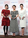 "December 7, 2016, Tokyo, Japan - (L-R)  Saori Yoshida, Rio de Janeiro Olympic silver medalist, actress Mitsuki Takahata and TV anchorwoman Rei Kikukawa smile as they received ""Oricon Style Queen Award 2016"" in Tokyo on Wednesday, December 7, 2016. Yoshida received the most favorable female athlete, Takahata received the most active actress and Kikukawa received the most intelligence woman award, which were selected by ordinary people.  (Photo by Yoshio Tsunoda/AFLO) LWX -ytd-"