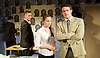 A Level Playing Field <br /> by Jonathan Lewis <br /> at the Jermyn Street Theatre<br /> London, Great Britain <br /> 13th April 2015 <br /> Press photocell <br /> <br /> Abe Lewis<br /> Isabella Caley <br /> Joe Layton  (Mr Preston)