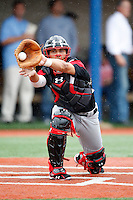August 7, 2009:  Catcher Alex Lavisky (14) of the Baseball Factory team during the Under Armour All-America event at Les Miller Field in Chicago, IL.  Photo By Mike Janes/Four Seam Images