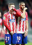 Atletico de Madrid's Kevin Gameiro (l) and Yannick Ferreira Carrasco during La Liga match. November 18,2017. (ALTERPHOTOS/Acero)