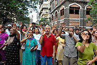 Local residents participates in a remembrance ceremony in the Colaba district of Mumbai on the 30th of November 2008, Mumbai, India.