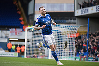 James Norwood of Ipswich Town turns to celebrate his chipped finish for the second goal during Ipswich Town vs Accrington Stanley, Sky Bet EFL League 1 Football at Portman Road on 11th January 2020