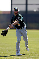 Corey Brown - Oakland Athletics - 2009 spring training.Photo by:  Bill Mitchell/Four Seam Images