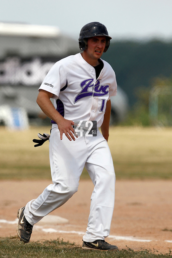 15 July 2011: Bertrand Dubaut of the PUC is seen during the 2011 Challenge de France match won 19-4 by the PUC over the Montigny Cougars, in Les Andelys, near Rouen, France.