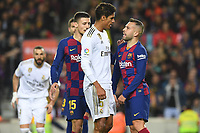 Raphael Varane, Jordi Alba<br /> <br /> <br /> 18/12/2019 <br /> Barcelona - Real Madrid<br /> Calcio La Liga 2019/2020 <br /> Photo Paco Largo Panoramic/insidefoto <br /> ITALY ONLY