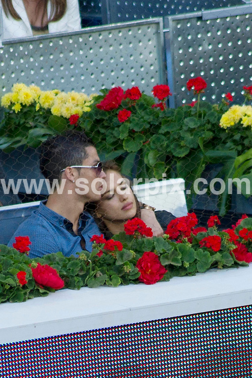 **ALL ROUND PICTURES FROM SOLARPIX.COM**                                             **WORLDWIDE SYNDICATION RIGHTS EXCEPT SPAIN - NO SYNDICATION IN SPAIN**                                                                                  Caption: Cristiano Ronaldo and girlfriend Irina Shayk watch the 2011 Madrid Open final between Serbian professional tennis player Novak Djokovic, and Rafael - Rafa - Nadal. Madrid, Spain. 8 May 2011                                                                              This pic: Cristiano Ronaldo and girlfriend Irina Shayk                                                                              JOB REF: 13300 DMS Drake      DATE: 08_05_2011                                                           **MUST CREDIT SOLARPIX.COM OR DOUBLE FEE WILL BE CHARGED**                                                                      **MUST AGREE FEE BEFORE ONLINE USAGE**                               **CALL US ON: +34 952 811 768 or LOW RATE FROM UK 0844 617 7637**
