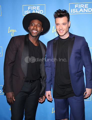 NEW YORK, NY April 20, 2017 Khasan Brailsford, Jorge Bustillos  attend Logo's Fire Island Premiere Party  at Atlas Social Club  in New York April 20,  2017. Credit:RW/MediaPunch