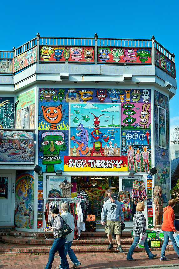 Novelty shop on Commerce Street, Provincetown, Cape Cod, MA, USA