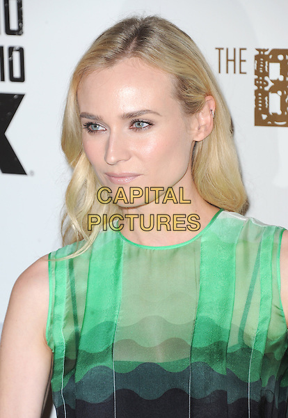 Diane Kruger<br /> &quot;The Bridge&quot; Series Premiere held at the DGA Theatre, West Hollywood, California, USA.<br /> July 8th, 2013<br /> headshot portrait green sleeveless         <br /> CAP/DVS<br /> &copy;DVS/Capital Pictures