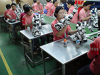 Robosapien factory in Guangdong, China.