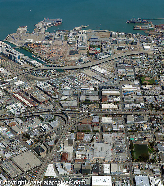 Aerial photograph Mission Bay Showplace Square San Francisco California