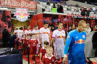 Harrison, NJ - Thursday March 01, 2018: Luis Robles. The New York Red Bulls defeated C.D. Olimpia 2-0 (3-1 on aggregate) during a 2018 CONCACAF Champions League Round of 16 match at Red Bull Arena.
