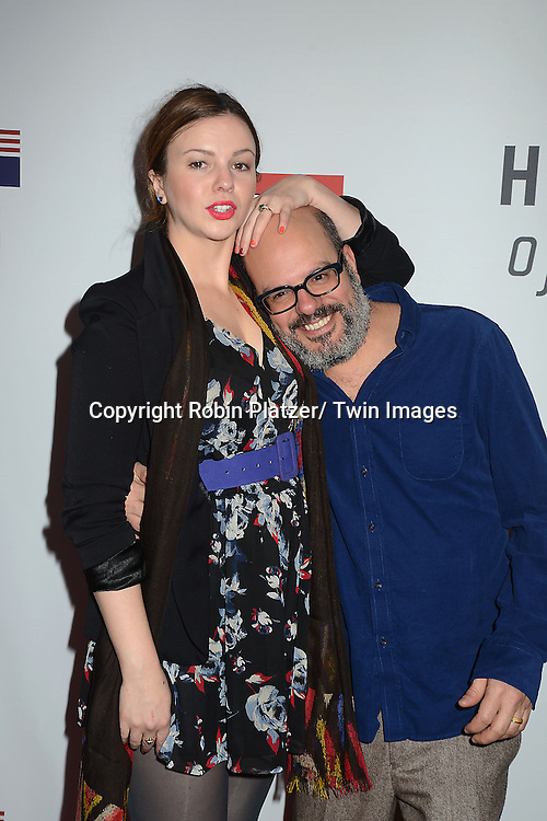 """Amber Tamblyn and husband David Cross  attends the Premiere of """"House of Cards"""" on January 30, 2013 at Alice Tully Hall at Lincoln Center in New York City. The movie is available to watch on Netflix on February 1, 2013. The show stars Kevin Spacey, Kate Mara, Robin Wright, Michael Kelly, Corey Stoll, Kristen Connoly, Sakina Jaffrey, Constance Zimmer and  Sandrine Holt."""