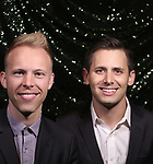 Justin Paul and Benj Pasek attend the 2017 Tony Awards Meet The Nominees Press Junket at the Sofitel Hotel on May 3, 2017 in New York City.