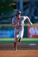 Syracuse Chiefs center fielder Andrew Stevenson (2) running the bases during a game against the Buffalo Bisons on July 3, 2017 at Coca-Cola Field in Buffalo, New York.  Buffalo defeated Syracuse 6-2.  (Mike Janes/Four Seam Images)