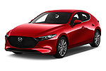 2019 Mazda Mazda3 Skydrive 5 Door Hatchback Angular Front stock photos of front three quarter view