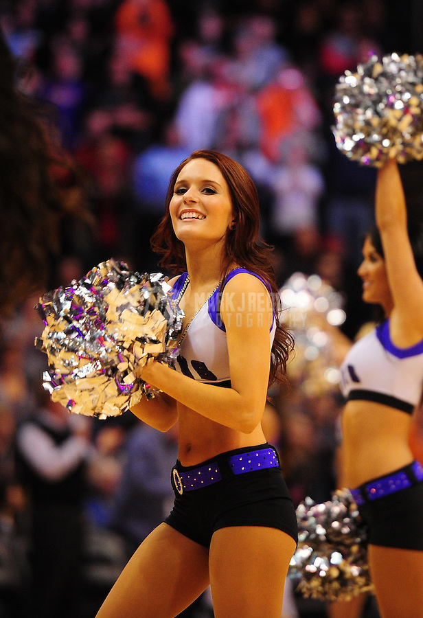 Dec. 26, 2011; Phoenix, AZ, USA; Phoenix Suns dancers perform during game against the New Orleans Hornets at the US Airways Center. The Hornets defeated the Suns 85-84. Mandatory Credit: Mark J. Rebilas-USA TODAY Sports