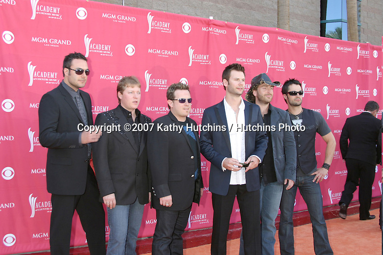 emerson Drive.Academy  of Country Music Awards.MGM Grand Garden Arena.Las Vegas, NV.May 15, 2007.©2007 Kathy Hutchins / Hutchins Photo....