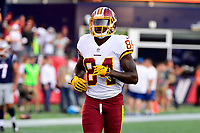 August 9, 2018: Washington Redskins wide receiver Darvin Kidsy (84) warms up before the NFL pre-season football game between the Washington Redskins and the New England Patriots at Gillette Stadium, in Foxborough, Massachusetts.The Patriots defeat the Redskins 26-17. Eric Canha/CSM