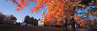Fall foliage frames historic Acworth, New Hampshire, Congregational church. Photograph by Peter E. Randall.