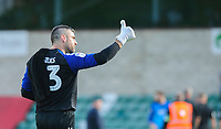 Fleetwood Town's Matt Gilks acknowledges the Lincoln City fans at the final whistle<br /> <br /> Photographer Chris Vaughan/CameraSport<br /> <br /> The EFL Sky Bet League One - Lincoln City v Fleetwood Town - Saturday 31st August 2019 - Sincil Bank - Lincoln<br /> <br /> World Copyright © 2019 CameraSport. All rights reserved. 43 Linden Ave. Countesthorpe. Leicester. England. LE8 5PG - Tel: +44 (0) 116 277 4147 - admin@camerasport.com - www.camerasport.com