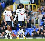 Tottenham's Erik Lamela looks on dejected at the final whistle with Emmanuel Adebayor<br /> <br /> - Barclays Premier League - Tottenham Hotspur vs Stoke City- White Hart Lane - London - England - 9th November 2014  - Picture David Klein/Sportimage