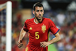 Spain's Sergio Busquets during the up match between Spain and Georgia before the Uefa Euro 2016.  Jun 07,2016. (ALTERPHOTOS/Rodrigo Jimenez)