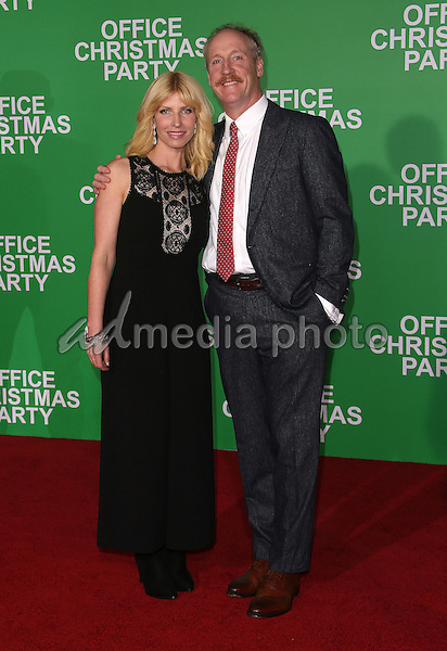 "07 December 2016 - Westwood, California - Matt Walsh, Morgan Walsh.  ""Office Christmas Party"" Paramount Pictures Los Angeles Premiere held at Regency Village Theatre. Photo Credit: F. Sadou/AdMedia"