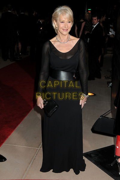 HELEN MIRREN .Palm Springs International Film Festival Awards Gala 2010 held at the Palm Springs Convention Center, Palm Springs, California, USA, .5th January 2010..full length long maxi dress long sleeved clutch bag sleeves black .CAP/ADM/BP.©Byron Purvis/AdMedia/Capital Pictures.