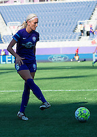 Orlando, Florida - Sunday, May 8, 2016: Orlando Pride midfielder Kaylyn Kyle (6) during a National Women's Soccer League match between Orlando Pride and Seattle Reign FC at Camping World Stadium.