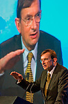 Jeroen Van der Veer, Chief Executive, Royal Dutch Shell, speaks at  the CERAWeek conference being held at the Westin Galleria Hotel. (Tuesday, Feb. 10, 2009, in Houston. ( Steve Campbell / Houston Chronicle)