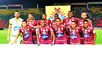 IBAGUÉ-COLOMBIA , 07 -11-2018 . Formación del Deportes Tolima ante Once Caldas durante partido por la fecha 14 de la Liga Águila II 2018 jugado en el estadio Manuel Murillo Toro de la ciudad de Ibagué./ Team of  Deportes Tolima  agaisnt  of Once Caldas during the match for the date 14 of the Aguila League II 2018 played at Manuel Murillo Toro  stadium in Ibague city. Photo: VizzorImage/ Juan Carlos Escobar / Contribuidor