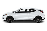 Car Driver side profile view of a 2019 Hyundai Veloster R-Spec 2 Door Coupe Side View