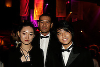 Sepetmber 18 Montreal (Qc) CANADA<br /> MANO Hanae, actress, (L)<br /> SABU (TANAKA Hiroyuki), filmmaker (M) and<br /> 18 year old Japan music idol Tegoshi Yuya, who play in DEAD RUN presented at<br /> the NEW MONTREAL FILMFEST, pose for an exclusive photo at the Festival's opening party, Sept 18 2005<br /> photo : (c) 2005 Pierre Roussel / Images Distribution<br /> Photo : (c) 2005 by Pierre Roussel/ Images Distribution