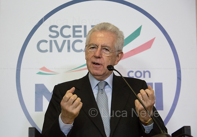 Between 22:40 and 23:00 - Sen. Mario Monti, current Prime Minister of Italy, Senator for life and as leader of Scelta Civica candidate to be Prime Minister again.<br />