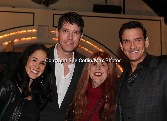 Guiding Light's Sean McDermott with James Barbour, the star of The Phantom of the Opera as The Phantom and his wife Dana Stackpole as they pose with Jane Elissa at The 29th Annual Jane Elissa Extravaganza which benefits The Jane Elissa Charitable Fund for Leukemia & Lymphoma Cancer, Broadway Cares and other charities on November 14, 2016 at the New York Marriott Hotel, New York City presented by Bridgehampton National Bank and Walgreens.  The event is a Cabaret with singer Sean McDermott (Guiding Light) (Photo by Sue Coflin/Max Photos)