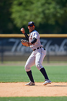 Detroit Tigers Wenceel Perez (80) during a Minor League Spring Training game against the New York Yankees on March 21, 2018 at the New York Yankees Minor League Complex in Tampa, Florida.  (Mike Janes/Four Seam Images)