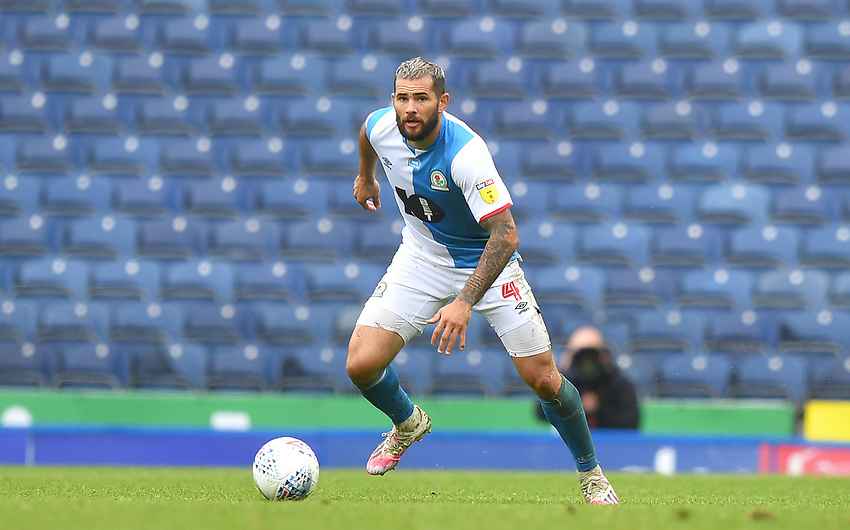 Blackburn Rovers' Bradley Johnson<br /> <br /> Photographer Dave Howarth/CameraSport<br /> <br /> The EFL Sky Bet Championship - Blackburn Rovers v Reading - Saturday 18th July 2020 - Ewood Park - Blackburn<br /> <br /> World Copyright © 2020 CameraSport. All rights reserved. 43 Linden Ave. Countesthorpe. Leicester. England. LE8 5PG - Tel: +44 (0) 116 277 4147 - admin@camerasport.com - www.camerasport.com