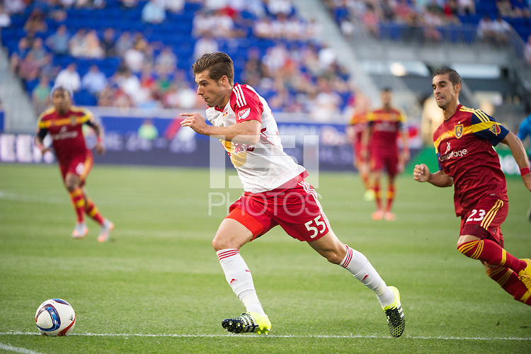 HARRISON, NJ - Wednesday June 24, 2015: The New York Red Bulls defeat Real Salt Lake 1-0 at home at Red Bull Arena in regular season MLS play.