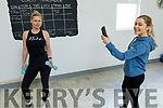 Esther Hourigan been recorded by her daughter Jordan at her fitness class at home in Currow on Monday.